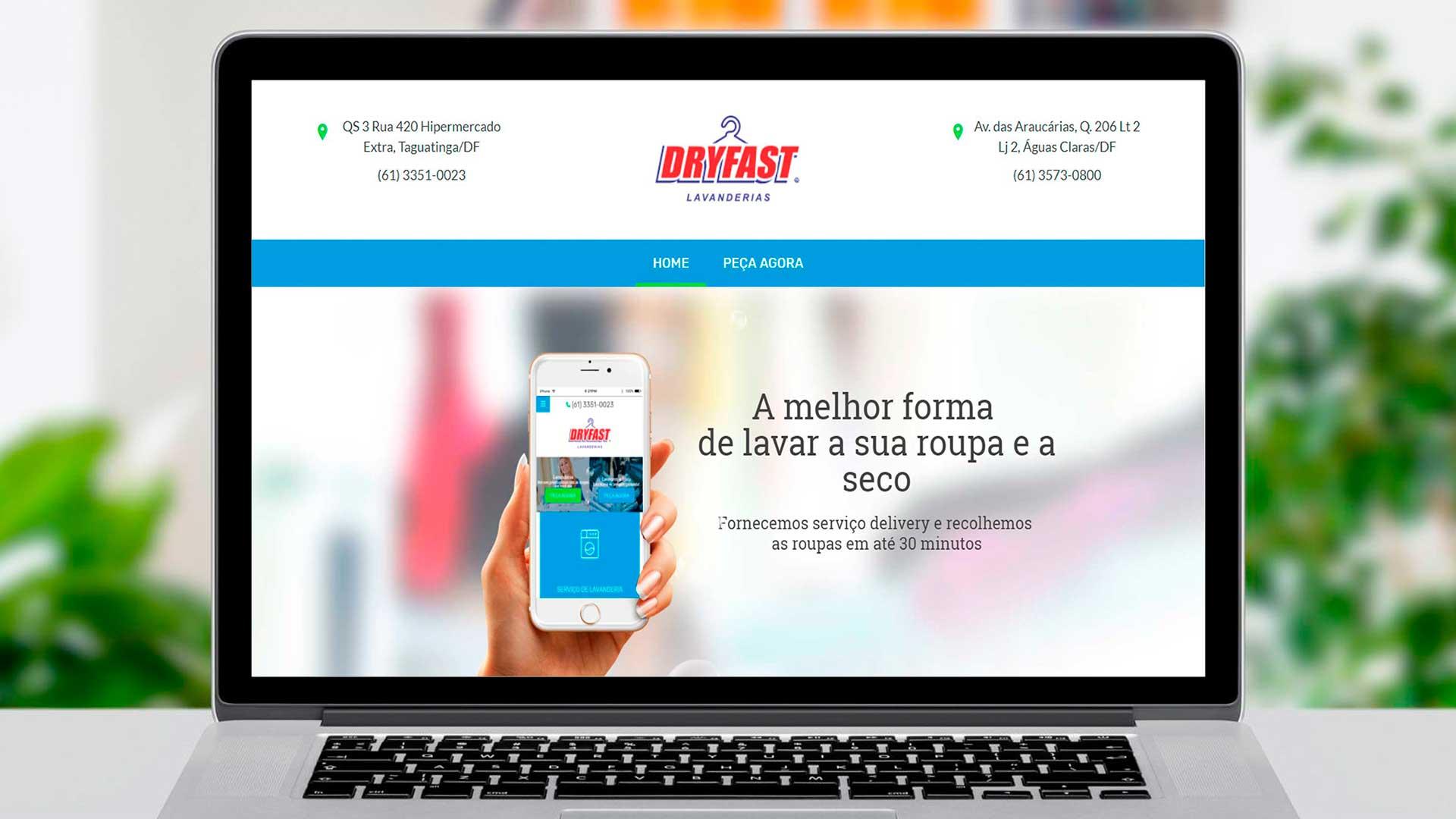 LDesigner - Website Dryfast Lavanderias