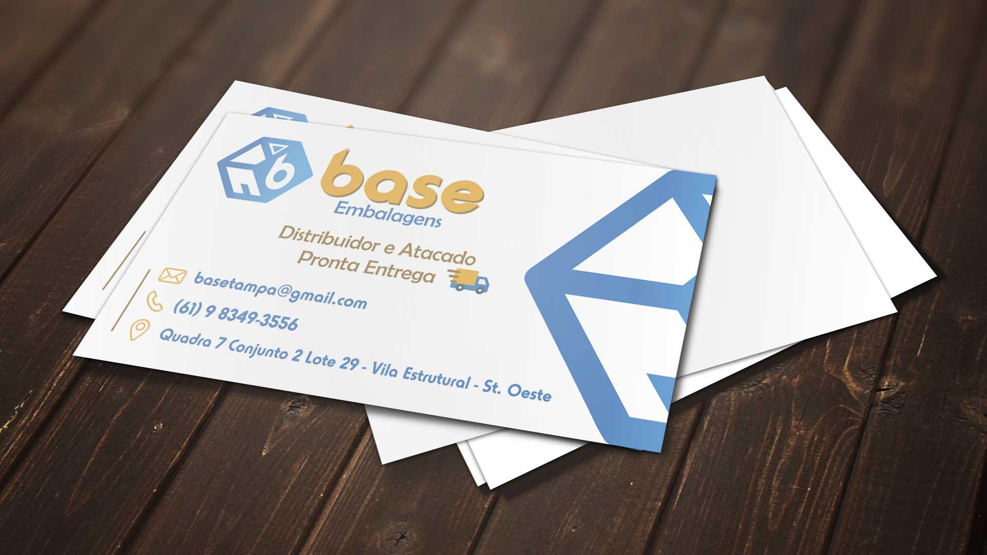 LDesigner - Cartão de Visita Base Embalagens